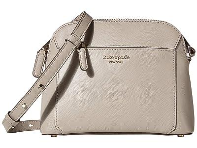 Kate Spade New York Louise Medium Dome Crossbody (True Taupe) Handbags