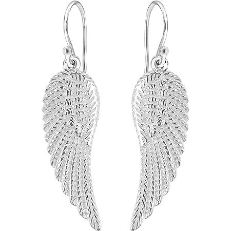 1 27mm Angel Wing Drop Earrings Real Sterling Silver 925
