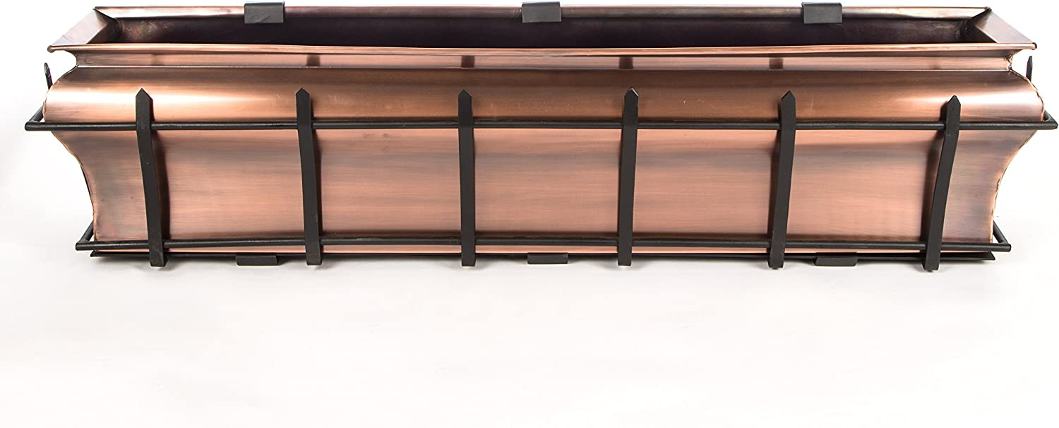 Window Planter Box H Potter Plant Containe Don't miss the campaign Copper Flower Outdoor Max 57% OFF