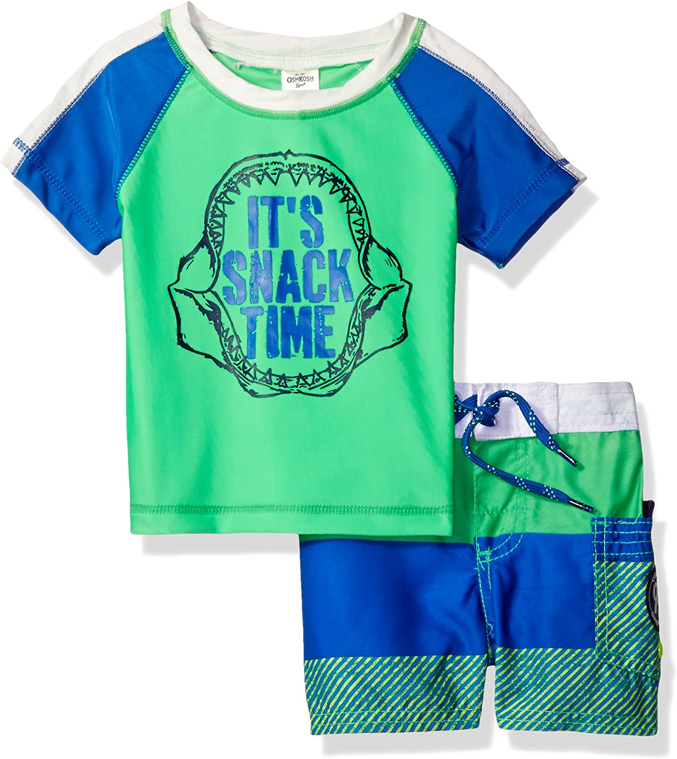Osh Kosh Boys' Infant Snack Rash Guard Inventory cleanup selling sale Time Set Beauty products