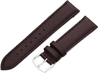 Hadley-Roma Men`s MSM725RA 160 16-mm Black Java Lizard Grained Leather Watch Strap