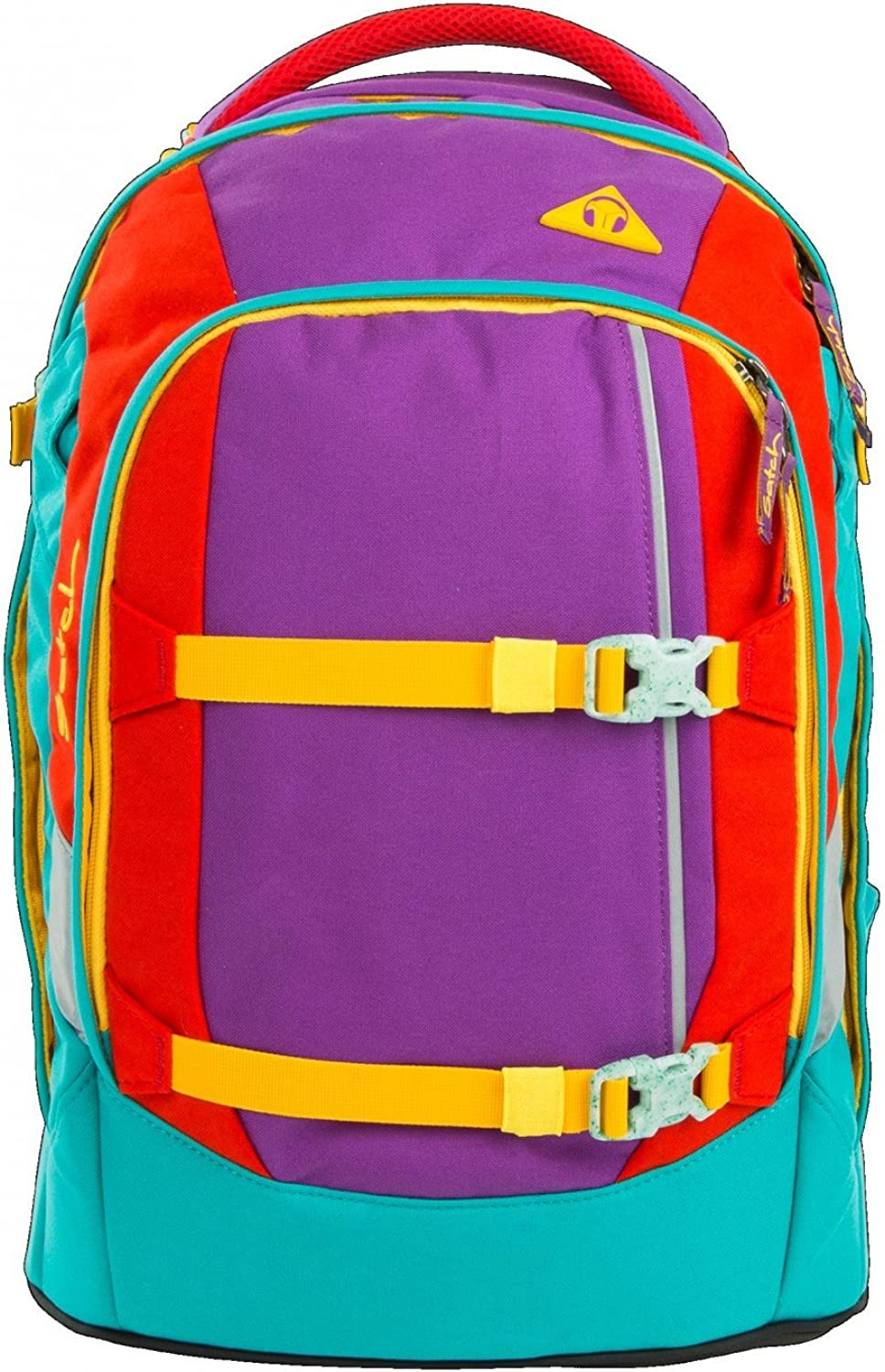 Satch Schoolbag Set Multi-Coloured purple green red