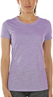icyzone Workout Shirts for Women - Yoga Tops Gym Clothes Running Exercise Athletic T-Shirts