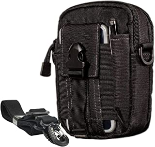 Tactical Molle Waist Bags, Waterproof Pouch, Universal Men's Outdoor Sport Casual Waist Pack Coin Purse Gear Holster Utility Pouch Phone Case for iPhone 8/7/6/6s/(4.7inch) Samsung Galaxy S7 S6 LG HTC and More Work Waist Case Bag Army EDC