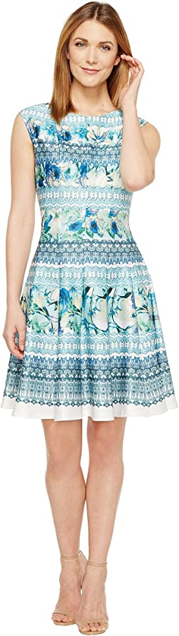 Christin Michaels - Frances Cap Sleeve Fit and Flare Dress