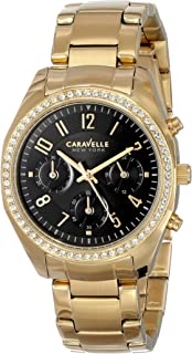 Caravelle New York Women's 44L116 Analog Display Japanese Quartz Yellow Watch