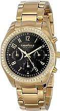Caravelle New York Women's 44L116 Analog Display Japanese Quartz Yellow Watch