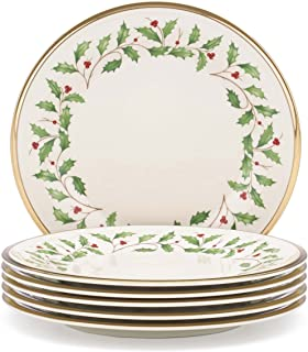 Lenox Holiday Salad Plates, Set of 6