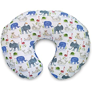 Boppy Original Pillow Cover, Watercolor Animals, Cotton Blend Fabric with allover fashion, Fits All Boppy Nursing Pillows and Positioners