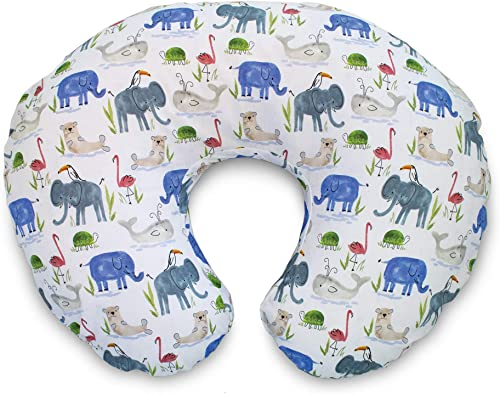 Boppy Original Pillow Cover, Watercolor Animals, Cotton Blend Fabric with allover fashion, Fits All Boppy Nursing Pil...