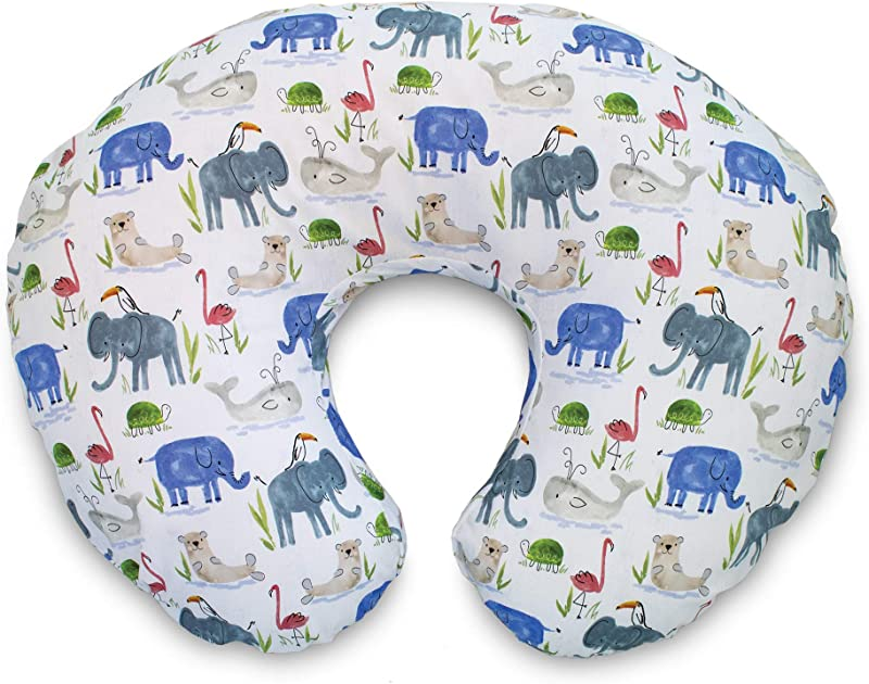 Boppy Original Pillow Cover Watercolor Animals Cotton Blend Fabric With Allover Fashion Fits All Boppy Nursing Pillows And Positioners