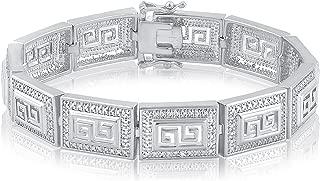 Diamond Accent Greek Key Bracelet