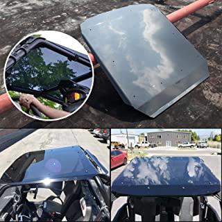 Roof Top for Polaris 2014+ RZR XP 900/1000 TURBO 900 S Trail 2 Seats TINTED POLYCARBONATE PC Solid Sheets Sun Visor Cover Protective Shield with UV-coating