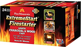 Best Pine Mountain ExtremeStart Wrapped Fire Starters, 24 Starts Firestarter Wood Fire Log for Campfire, Fireplace, Wood Stove, Fire Pit, Indoor & Outdoor Use Review