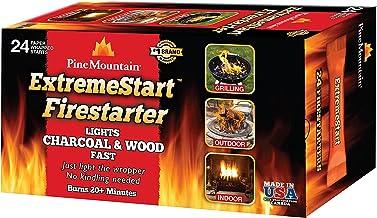Pine Mountain ExtremeStart Wrapped Fire Starters, 24 Starts Firestarter Wood Fire Log for..