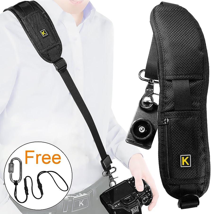 Camera Strap Rapid Fire Camera Neck Strap Sling Belt, Shoulder Strap w/Quick Release and Safety Tether