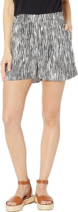 Mini Zebra Printed Crepe Shorts