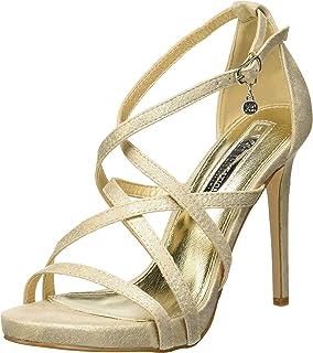 XTI 35054, Zapatos con Tacon y Correa de Tobillo para Mujer