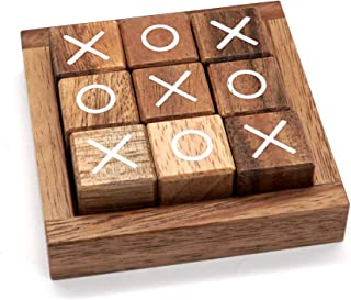 Tic Tac Toe for Kids and Adults Coffee Table Living Room Decor and Desk Decor Family Games Night Classic Board Games Wood ...