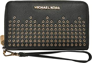 0fef7d4253d0 Michael Kors Hayes Large Flat Multifunction Phone Case Leather Wallet Black