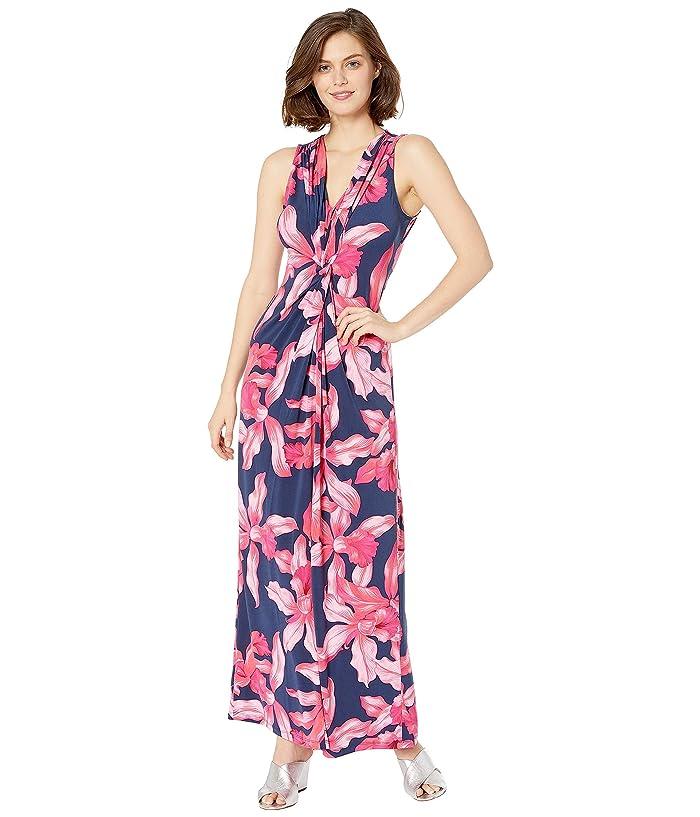 Tommy Bahama Orchid Rua Sleeveless Maxi Dress (Island Navy) Women