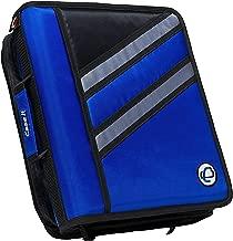 Case-it Z-Binder Two-in-One 1.5-Inch D-Ring Zipper Binders, Blue, Z-176-BLU