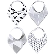 """Baby Bandana Drool Bibs for Drooling and Teething 4 Pack Gift Set for Boys """"Wild Set"""" by Copper Pearl"""