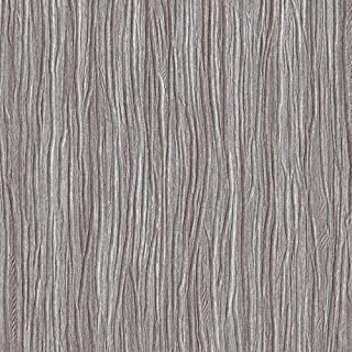 Romosa Wallcoverings 787-45 Forest Textured Wallpaper, Silver Brown