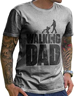 Stylotex Lustiges Herren Männer T-Shirt Vatertag   The Walking Dad   Geschenk für werdende Papas