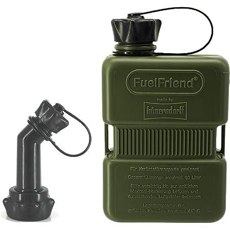 Fuelfriend Plus 1 0 Liter Sonderserie Oliv Klein Benzinkanister Mini Reservekanister Verschließbares Auslaufrohr Auto