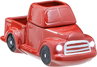 JULIE ANN HOME Ceramic Candle Wax Warmer, Vintage Red Truck with Safety Timer | Automatic Plug in Fragrance Warmer for Sce...