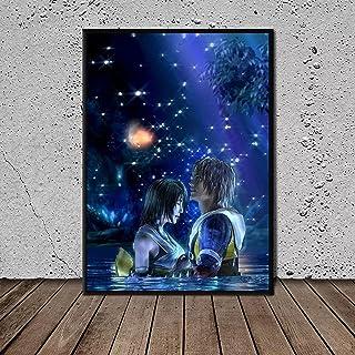 Kemeinuo Art Print Final Fantasy X Tidus en Yuna Arts Prints Posters Wall Art Home Decor 60x90cm