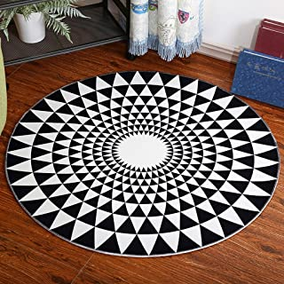 Area Rugs Carpets Personalized Round Rugs Children's Carpet Coffee Tables Bedroom Study Computer Blanket Cushion (Size : D...