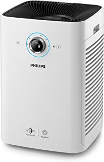 Philips 6000 Series AC6608/90 Air Purifier Vitasheild IPS , Real time PM2.5 feedback and 4 color AQI light, 2X capacity of clean air delivery with TwinForce aerodynamic, White ( ( 169 m² 65 dB 82 W )