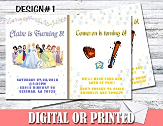 Any Character Theme Personalized Birthday Invitations More Designs Inside!