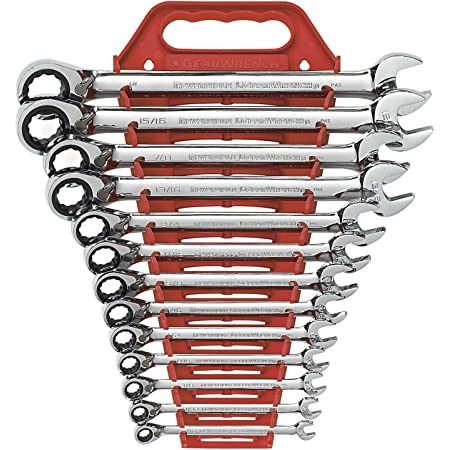 GEARWRENCH 13 Pc. 12 Pt. Reversible Ratcheting Combination Wrench Set, SAE - 9509N