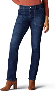 LEE Women's Flex Motion Regular Fit Straight Leg Jean