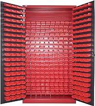 Armario para piezas pequeñas, color antracita, para almacenamiento, tornillos, armario de acero, moldau, 340 cajas, gran e...