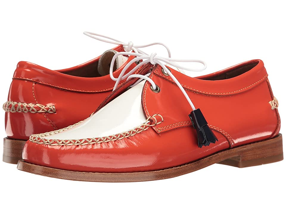 G.H. Bass & Co. Winnie Weejuns (Poppy/White Patent Leather) Women