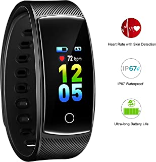 AOFIT 2019 Version Fitness Tracker Ultra-Long Battery Life Multi-Sport Modes Pedometer Smart Heart Rate IP67 Waterproof Color Screen Watch Women Men
