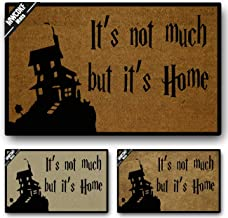 MWCOKF Funny Door Mat Non-Slip Back Rubber Entry Way Doormat Outside   It's not Much but It's Home in Here   Standard Outdoor Welcome Mat   Home Indoor   Non-Woven Fabric 23.6 inch by 15.7 inch