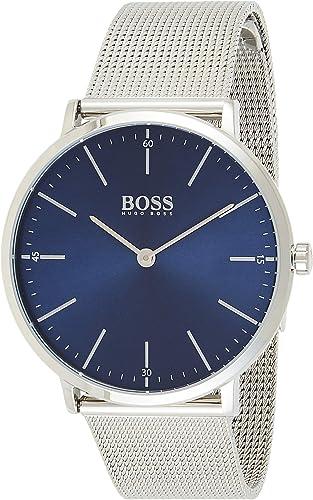 Hugo Boss Homme Analogique Classique Quartz Montre avec Bracelet en Acier Inoxydable 1513541