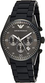 Emporio Armani Sportivo Men's Black Dial Stainless Steel Band Watch - AR5889