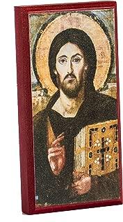 Christ Pantocrator Sinai 6x12 Icon Mounted on Wood