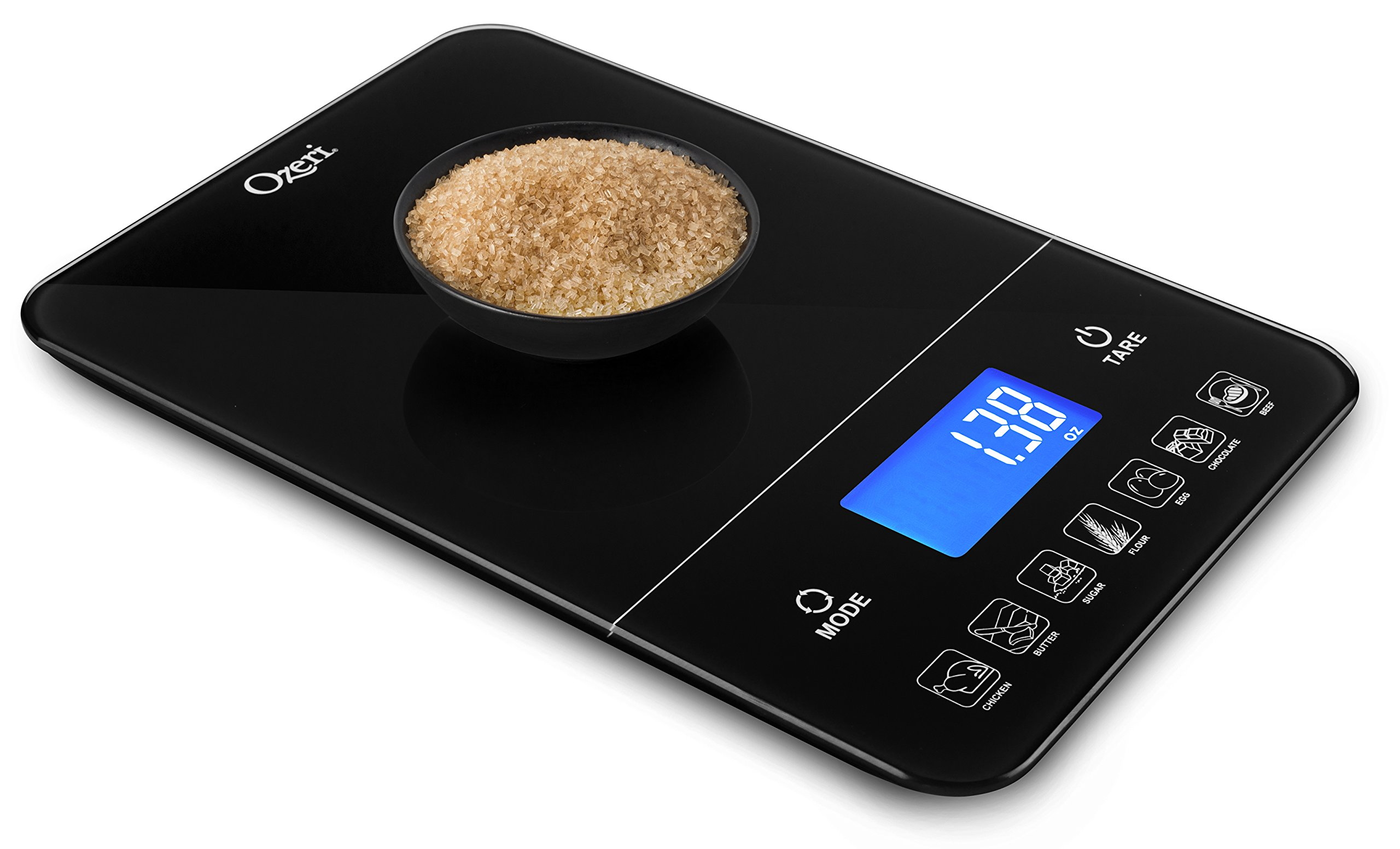 Ozeri Touch Iii 22 Lbs 10 Kg Digital Kitchen Scale With Calorie Counter In Tempered Glass Kitchen Scales Amazon Com Au