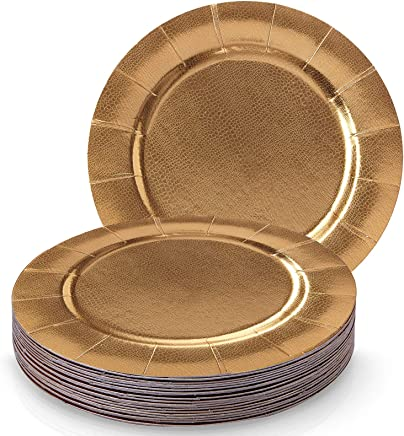 Amazoncom Gold Charger Service Plates Plates Home Kitchen