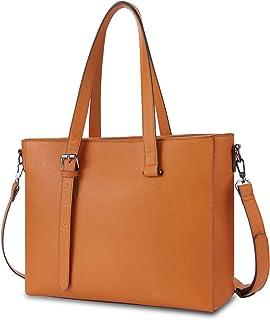 ECOSUSI Shopper Damen große Tote Tasche Schultertasche PU Leder Handtasche Arbeitstasche Umhängetasche mit Verdicktem Lapt...