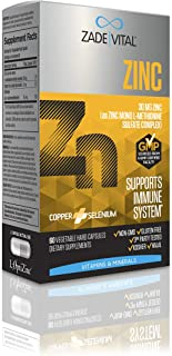 Zade Vital, Zinc L-Methionine Sulfate Complex to Support Immune System, 60 Vegetable Hard Capsules, 2 Months Supply, 30 mg...