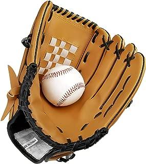 KUYOU Baseball Glove with Baseball Catcher's Mitt PU Leather Left Hand Gloves 10.5