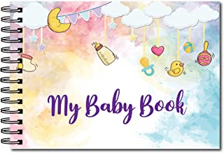 My Baby Book - Paper Book Photo Scrapbook for Pregnancy to One Year of Baby - Hard Bound Covers